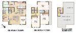 【間取図】3LDK+畳コーナー+屋上庭園