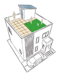 屋上庭園付住宅イメージ