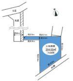 約78坪の敷地(区画図)