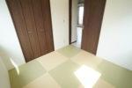 しっとりと落ち着く市松模様の洋風和室(和室)