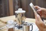 【屋上庭園の楽しみ方①】自宅で過ごす屋上カフェ時間。日向ぼっこ出来る屋上カフェでコーヒーを飲む贅沢時間。(屋上)