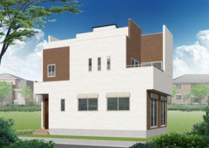 屋上庭園付住宅新築住宅