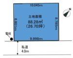 【区画図】土地面積(公簿):88.28㎡(26.70坪)(区画図)