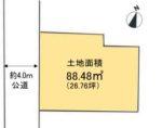 土地面積:88.48㎡(26.76坪)(区画図)