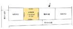 【区画図】土地面積:119.47㎡(36.13坪)※全3区画のうち②区画販売中(区画図)