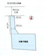 土地面積:162.63㎡(約49.19坪)(区画図)